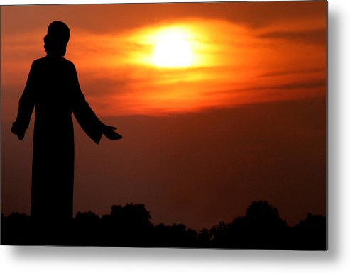 Jesus Metal Print featuring the photograph Holy Sunset by Jason Hochman
