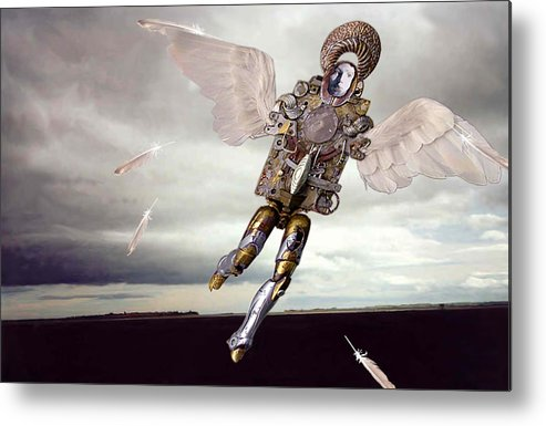 Surreal Metal Print featuring the digital art Icarus by Evelynn Eighmey