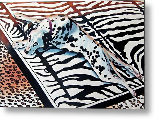 Animal/dog/dalmatian Metal Print featuring the painting Incognito by Gail Zavala
