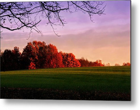 Landscape Metal Print featuring the photograph Indiana Sunset by Diane Merkle