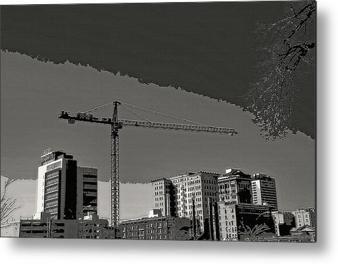 Industrial Metal Print featuring the photograph Industrial Crane 1 by Steve Ohlsen