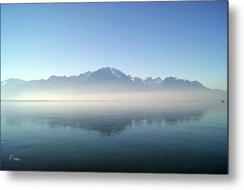 Reflections Metal Print featuring the photograph Oil Lake by Fran E
