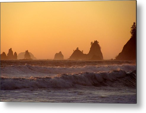 Nautre Metal Print featuring the photograph Olympic Sunset by Ty Nichols