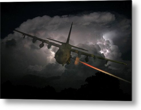 Aircraft Metal Print featuring the digital art Puff The Magic Dragon by Charles Greenwell