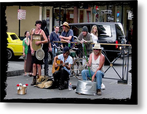 New Orleans Metal Print featuring the photograph Royal Street Musicians by Linda Kish