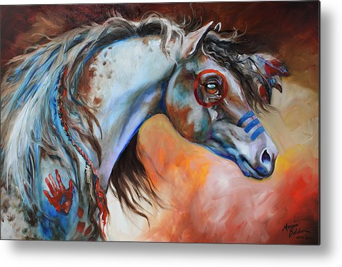 Horse Metal Print featuring the painting The Great One by Marcia Baldwin