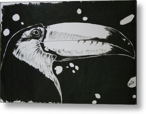 Toucan Metal Print featuring the painting Toucan by Sasa Delic