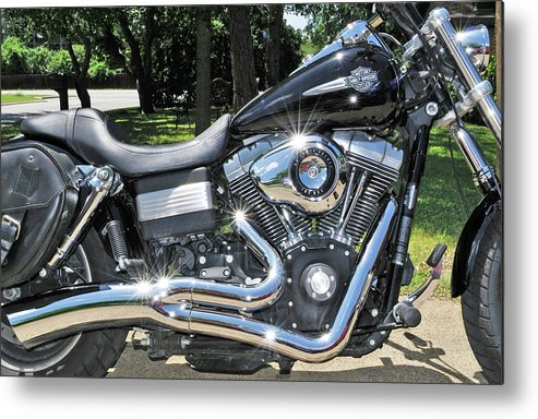 Custom Harley Davidson Metal Print featuring the photograph Try Me by Ruben Barbosa