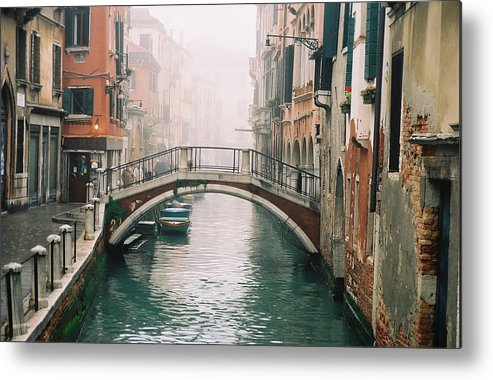 Venice Metal Print featuring the photograph Venice Canal II by Kathy Schumann