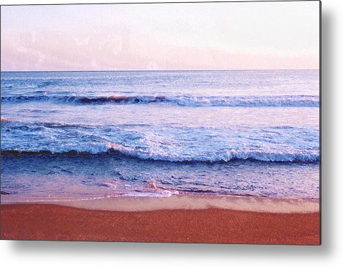Sunset Metal Print featuring the photograph Waves On The Beach 2 Aedb by Lyle Crump