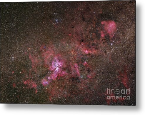 Universe Metal Print featuring the photograph Ngc 3372, The Eta Carinae Nebula by Robert Gendler