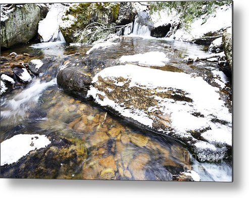 Winter Metal Print featuring the photograph White Oak Run In Winter by Thomas R Fletcher