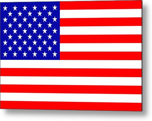 America Metal Print featuring the mixed media American Flag by Tommytechno Sweden