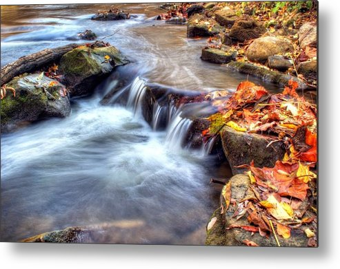 Fall Metal Print featuring the photograph Art For Crohn's Hdr Fall Creek by Tim Buisman