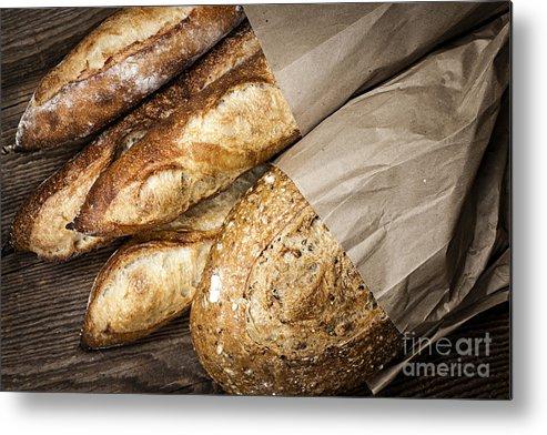 Bread Metal Print featuring the photograph Artisan Bread by Elena Elisseeva