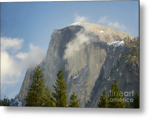 Half Dome Metal Print featuring the photograph Clouds Around Half Dome by Jim And Emily Bush