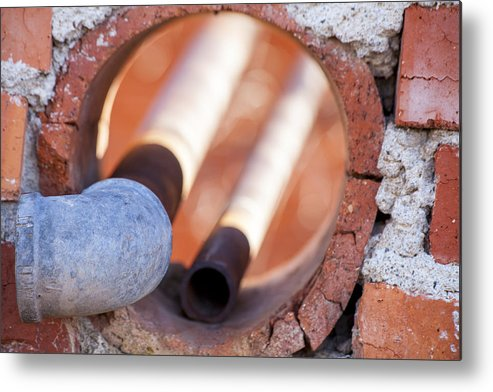 Rust Metal Print featuring the photograph Hole In The Wall by Fran Riley