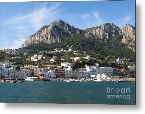 Yachts Metal Print featuring the photograph Island Capri Panoramic Sea View by Kiril Stanchev