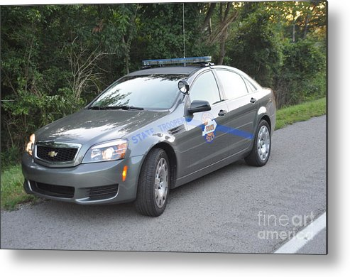 Kentucky State Police Cruiser Metal Print featuring the photograph Ksp Cruiser by Steven Townsend