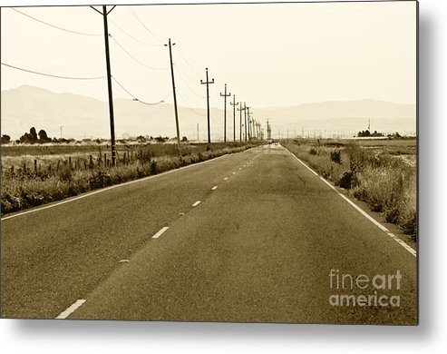 Road Picture Metal Print featuring the photograph Long Road Home by Artist and Photographer Laura Wrede