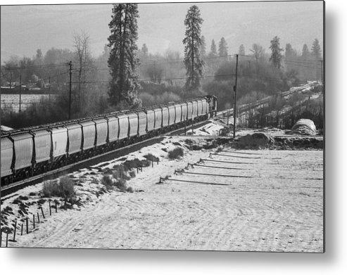 Montana Metal Print featuring the photograph Montana Train by Paul Bartoszek