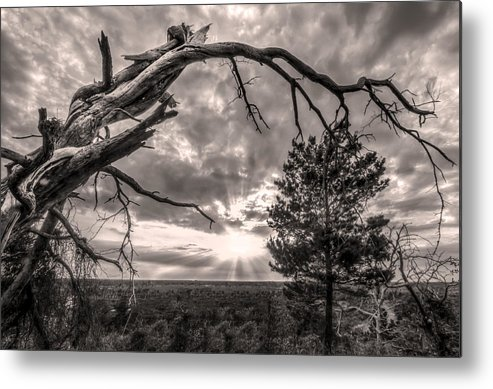 Clouds Metal Print featuring the photograph Natures Arch by Debra and Dave Vanderlaan