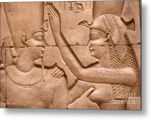 Relief Metal Print featuring the photograph Nekhbet by Stephen & Donna O'Meara