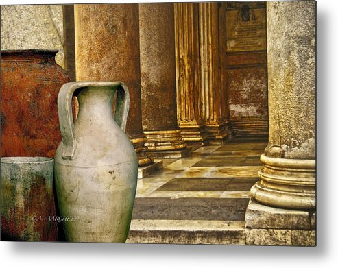 Pottery Metal Print featuring the photograph Pottery From Another Time by Carolyn Marchetti