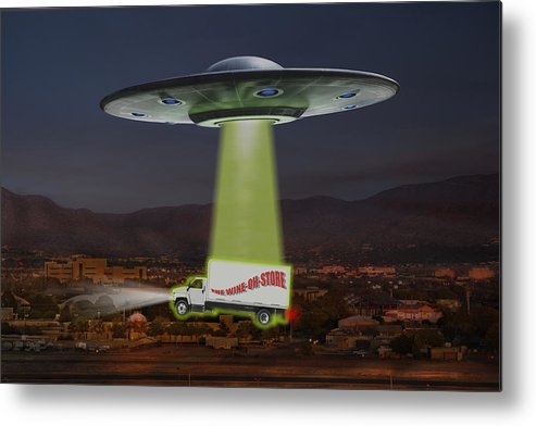 Ufo Metal Print featuring the photograph The Wine-oh-store by Mike McGlothlen