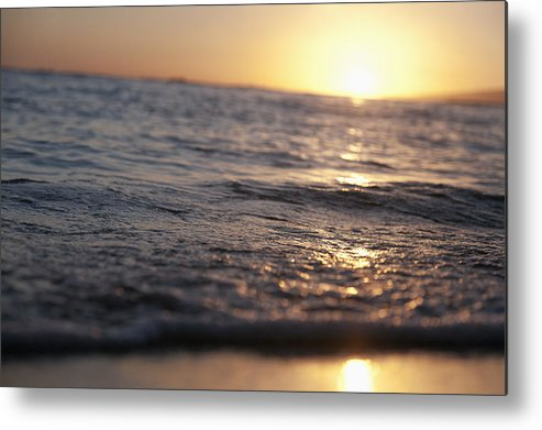 Brandon Tabiolo Metal Print featuring the photograph Water At Sunset by Brandon Tabiolo