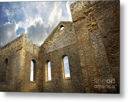 Architecture Metal Print featuring the photograph Ruins Of A Church In South Glengarry by Sandra Cunningham