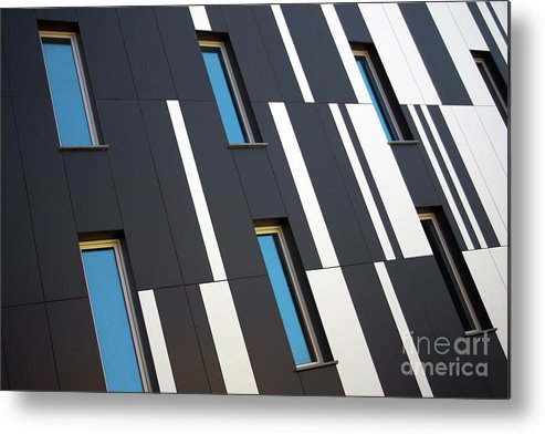 Abstract Metal Print featuring the photograph Black And White by Carlos Caetano