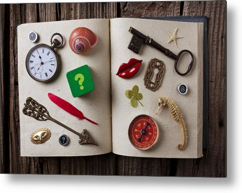 Book Metal Print featuring the photograph Book Of Secrets by Garry Gay