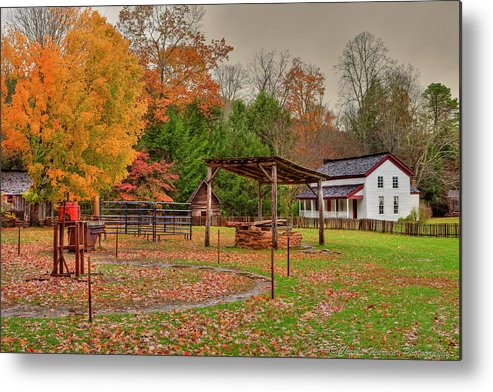 2010 Metal Print featuring the photograph Cable Mill Yard II by Charles Warren