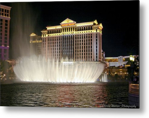 Las Vegas Metal Print featuring the photograph Ceasars Palace by Charles Warren