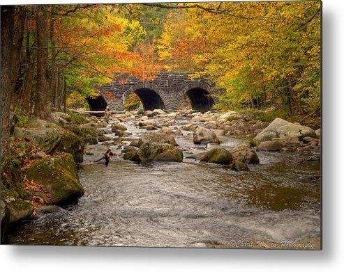 Stream Metal Print featuring the photograph Fishing Bridge I by Charles Warren