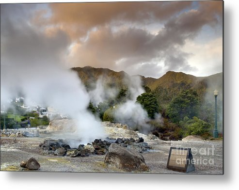 Azores Metal Print featuring the pastel Furnas by Andre Goncalves