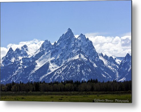 Grand Tetons Metal Print featuring the photograph Grand Tetons 2 by Charles Warren