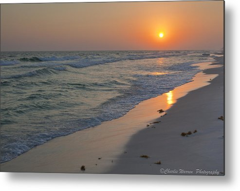 Beach Metal Print featuring the pyrography Grayton Beach Sunset 5 by Charles Warren