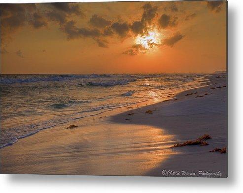 Sunset Metal Print featuring the photograph Grayton Beach Sunset 7 by Charles Warren