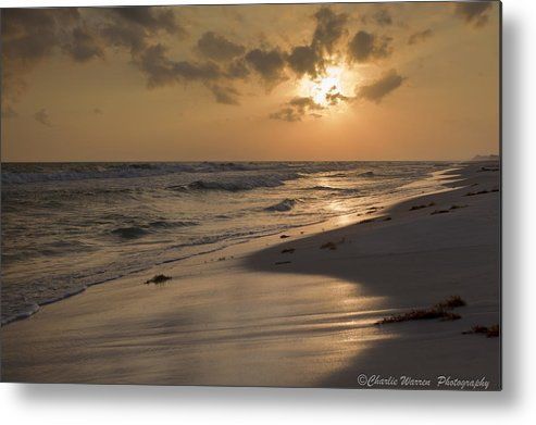 Sunset Metal Print featuring the photograph Grayton Beach Sunset by Charles Warren