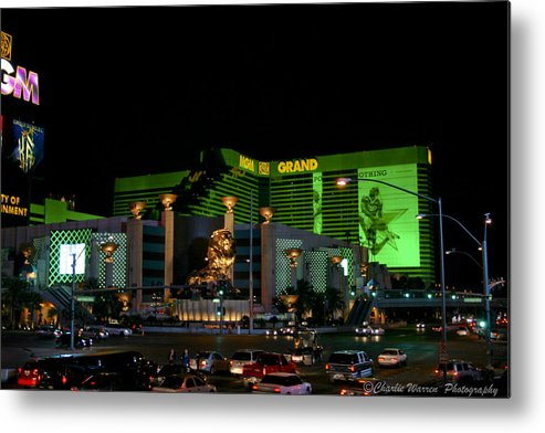 Las Vegas Metal Print featuring the photograph Just Grand by Charles Warren