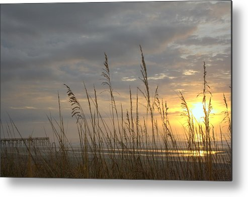 Pier Metal Print featuring the photograph Looking Back by Lynn Davenport