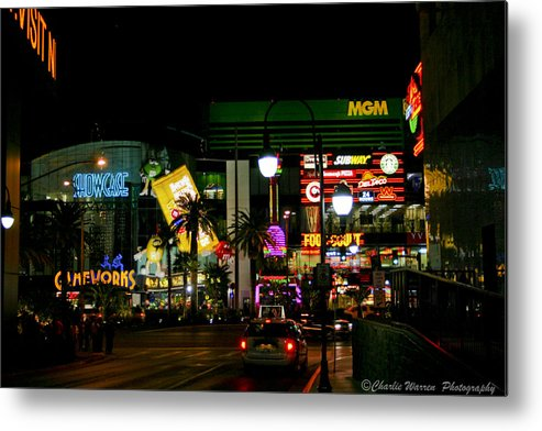 Las Vegas Metal Print featuring the photograph MGM by Charles Warren