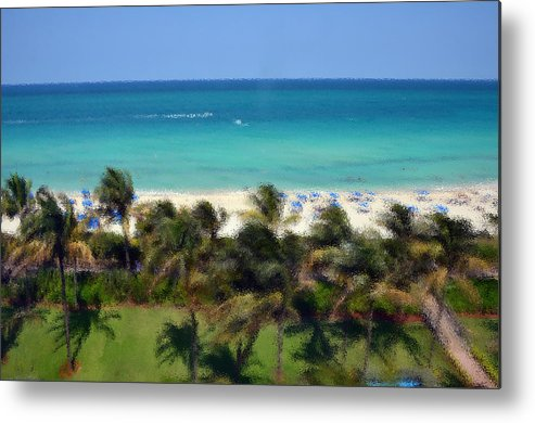 Miami Metal Print featuring the photograph Miami Beach by Pravine Chester