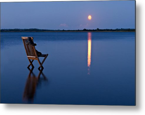 Blue Metal Print featuring the photograph Moon Boots by Gert Lavsen