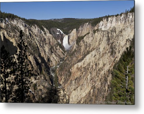 Falls Metal Print featuring the photograph Overlook Falls by Charles Warren