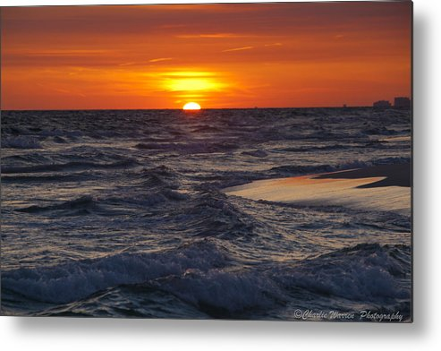Sunset Metal Print featuring the photograph Red Skies At Night by Charles Warren