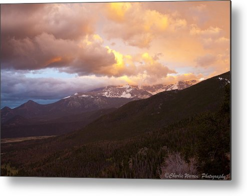 Rocky Mountains Metal Print featuring the photograph Rocky Mountain Sunset by Charles Warren