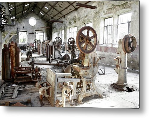 Abandoned Metal Print featuring the photograph Rusty Machinery by Carlos Caetano